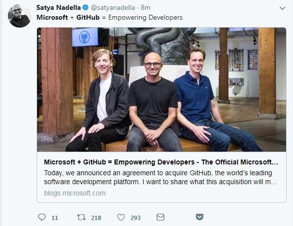 75亿美元!微软收购代码托管平台GitHub开源社区