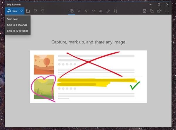 Windows 10新版截图工具预览版更新:名字改了、延时截图功能上线