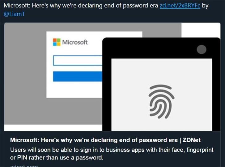 微软:为什么我们宣布密码时代已经结束