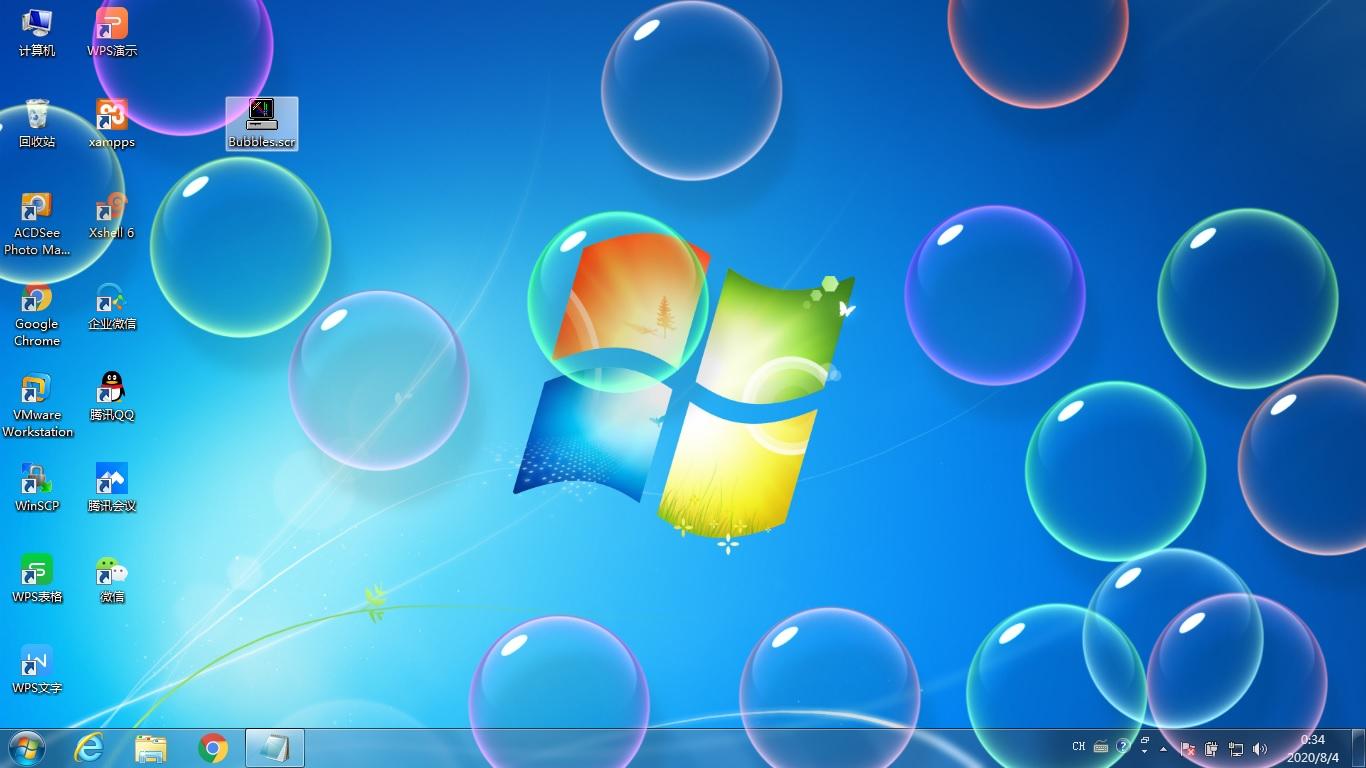 win7/win10桌面泡泡屏保-Bubbles
